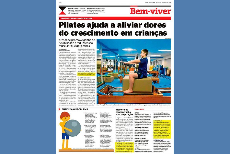 Pilates ajuda a aliviar dores de crescimento em crianças.